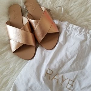 NWOT RAYE $145 Sullivan Sandal Slide in Rose Gold